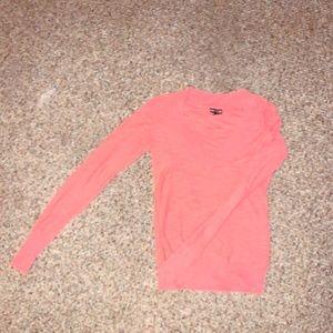Express V-Neck sweater pink